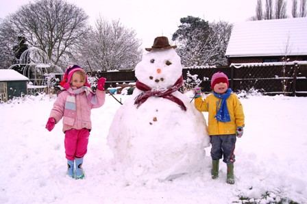 Snow guarantees children outside