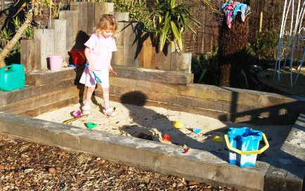 Ava in the sandpit